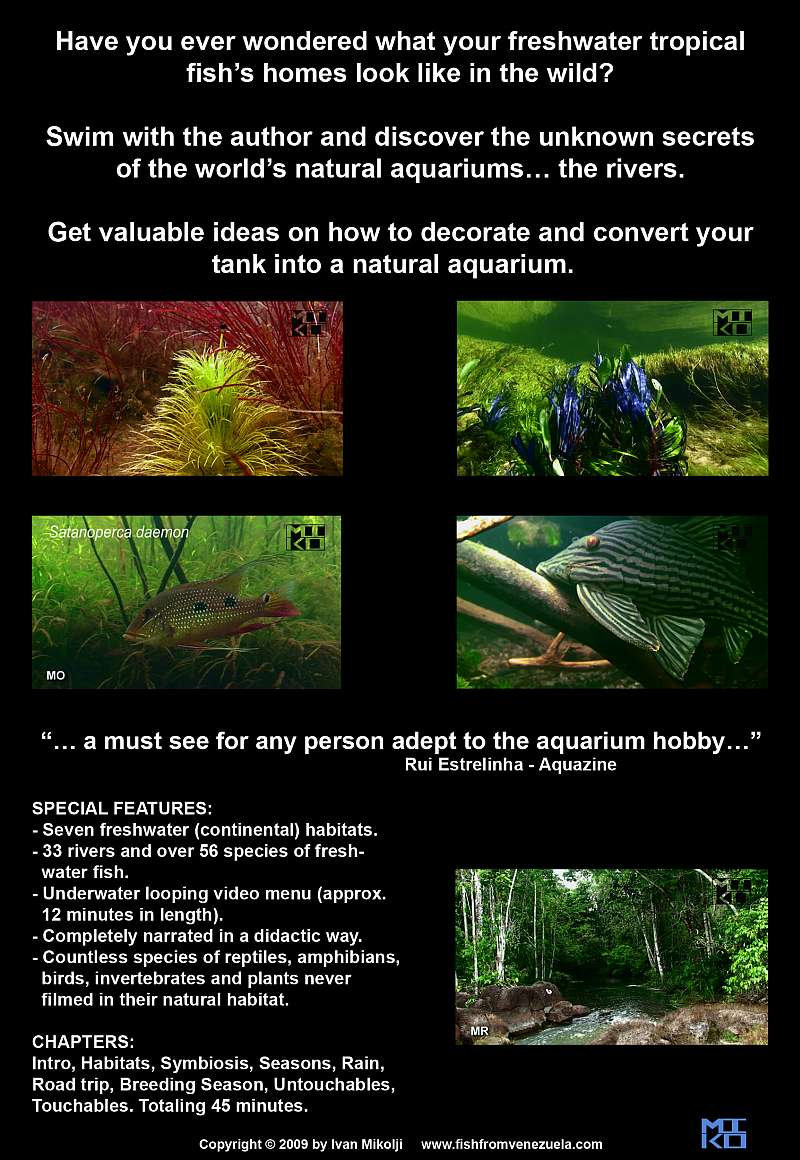 BACK COVER FRESHWATER NATURAL AQUARIUM DOCUMENTARY